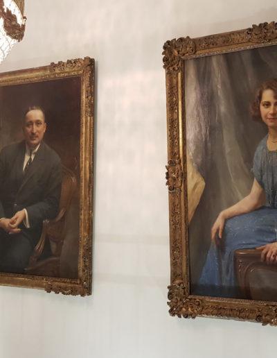 Château des Périchons galerie de portraits de famille