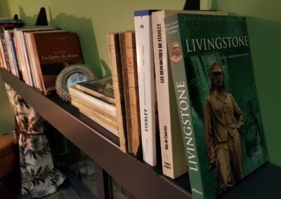 Château des perichons chambre Linvingstone bibliotheque