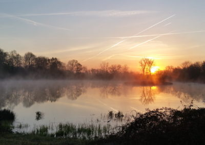 levée de soleil sur l'étang du Fou